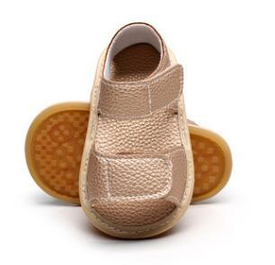 Hot sale 8 colors New summer handmade pu leather shoes toddler baby boys girls sandals hard sole baby moccasins baby sandals