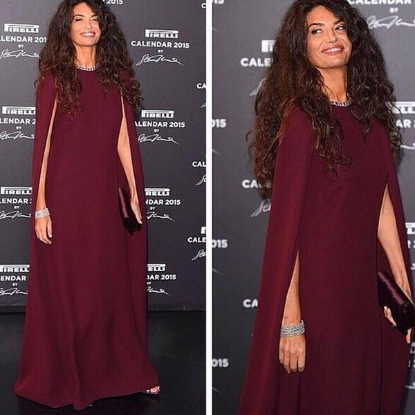 Elegant Burgundy Women Wrap Evening Gowns Red Carpet Celebrity Prom Dresses Sweep Train Shawl 2016 Wedding Party Gowns