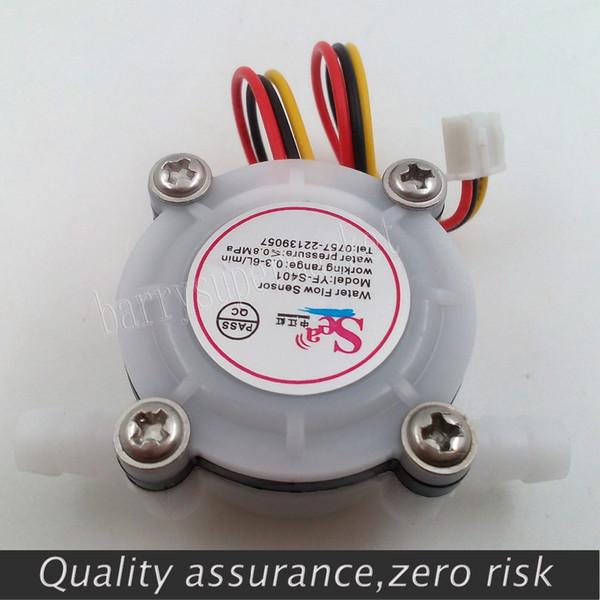 Wholesale-New G1/4 0.3-6L/min Water Coffee Flow Sensor Switch Meter Flowmeter Counter water flow sensor 0.3-6L/min 0.8MPA