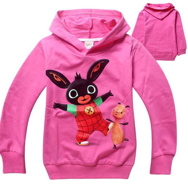 top popular Free shipping wholesale spring and autumn Bing Bunny cotton clothing for children boys and girls hoodies sweater 6 pcs 2019