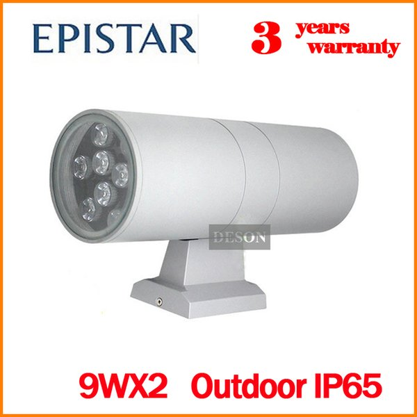Éclairage extérieur LED Applique murale Applique murale extérieure Porche s'allume 18W IP65 Étanche jusqu'à et vers le bas Maison Jardin Lampe murale RVB Lumière extérieure