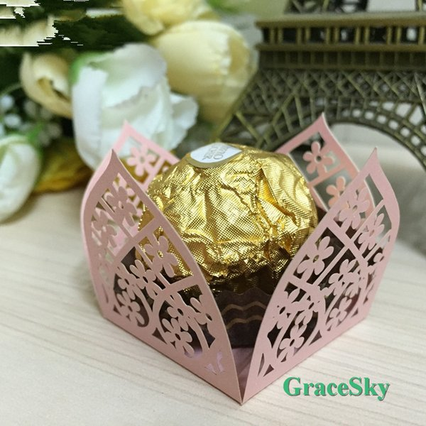 100x Free Shipping Laser Cut Floret Candy Chocolate Dessert Paper Cupcake Wrapper for Wedding Birthday Party,Muffin holder Cupcake Liner