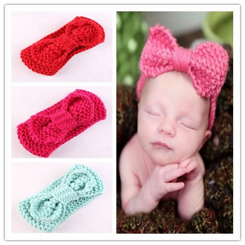 Baby Knit Headband Baby Girl With Big Bow Knitted Head Band