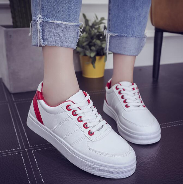 best selling New Fashion Women Men Sports Shoes Concise Top Casual Flat Student Shoes Lace Up Solid Sports Women Men Shoes