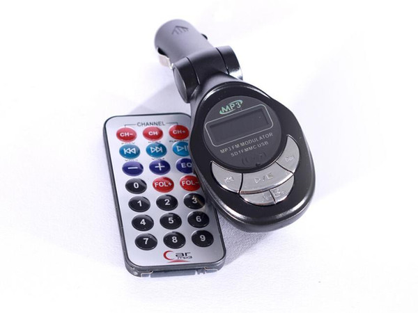 New Promation Car Kit Digital Wireless FM Transmitter MP3 Player+ Remote Control SD/USB/ 100pcs/lot Free shipping