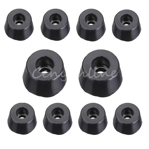 4pcs Rubber Pad Foot Stepping Machine Cabinet Furniture Chairs Stepping Round Black Rubber Antiskid Cabinet Foot Instrume order<$18no track