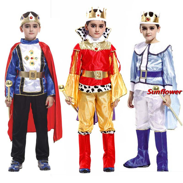 Child Boy Kids Prince King Cosplay Costume Fancy Dress Party Ball Halloween Children'Day Masquerade Cosplay Carnival Costumes