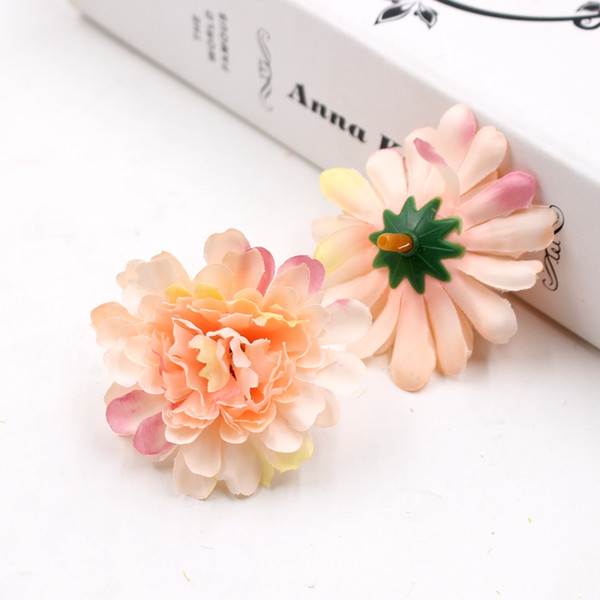 100pcs 5cm Silk Carnation Flower Head Artificial Flower Wedding Decoration Diy Cut Craft Fake Decoration
