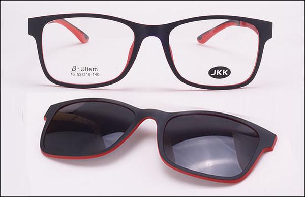 0fad42dcee Wholesale-jkk80 top quality Ultra-light Ultem titanium glasses frame belt  magnet optical frame
