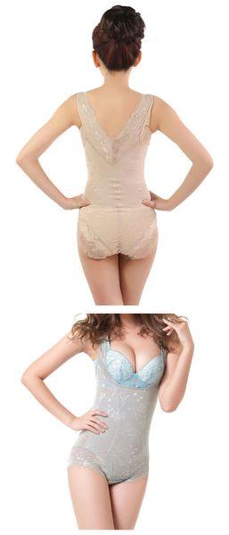 Wholesale-2015 Women Bodysuit Charcoal Sculpting Underwear Bamboo Slimming Suits shapewear waist training corsets waist cincher shaper
