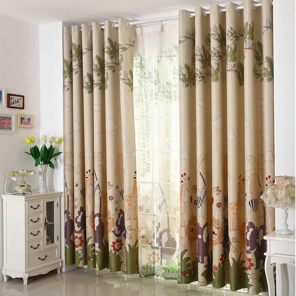 top popular Eco-friendly Curtains For Kids Cartoon Curtains + Tulle  Sheer curtains 100%Blackout Curtains Blue Pink Mouse  Mr. car 2020