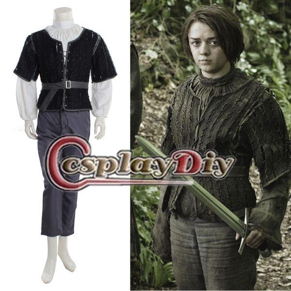 Custom Made Game Of Thrones Arya Stark Costume Suit Adult Women Hallowen Cosplay Costume Movie Group Costumes Themed Halloween Costumes For Groups