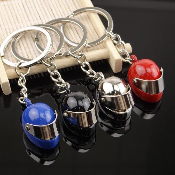 Cool Model Helmet Keychain Men Motorcycle Bicycle Casque Key Ring Alloy Key Fob For Gift Chaveiro Key Chain Car Keyring Keyfob