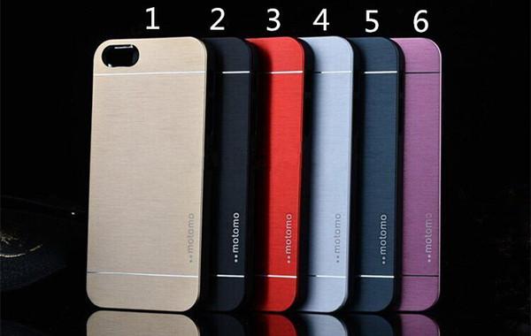 Luxe Ultra mince MOTOMO Métal En Alliage D'aluminium Case Tough Couverture Arrière pour iPhone 6 6 s 6 plus 5 5 s Samsung s6 Bord Plus S5 Note5 Note4 Note3