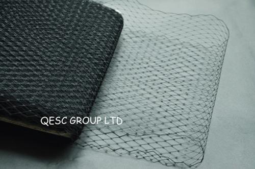 Beste Qualität! 9 '' Birdcage Verschleierung Material für Modewaren / Sinamay Hut / Kirche Hut / Fascinator, 10yards / lot, schwarze Farbe