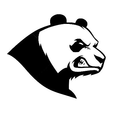 best selling car auto stickers angry panda 13cm x 11.3cm motorcycle waterproof vinyl decals for car truck