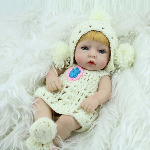 28cm Reborn Baby Doll Girls Cute Soft Vinyl Silicone Lifelike Newborn Baby Speaking Toy Educational Toy free shipping