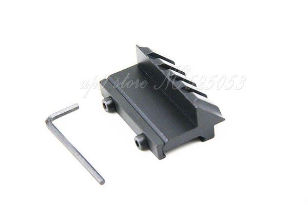 Caccia Air Gun Airsoft 45 gradi Offset 20 millimetri Rail Mount 4 slot per fucile Weaver Picatinny Flash Light Laser
