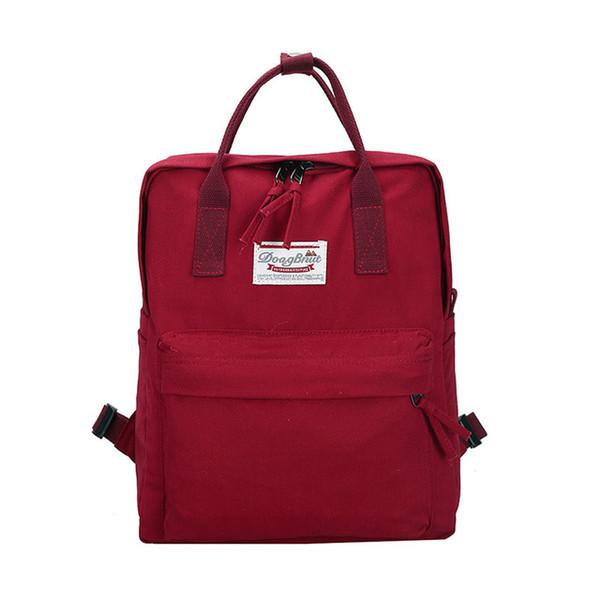 2018 Loodial New Female School Bags Backpack Canvas Solid Backpack School Bags For Teenage Girls Cute Book Bags Women Backpack