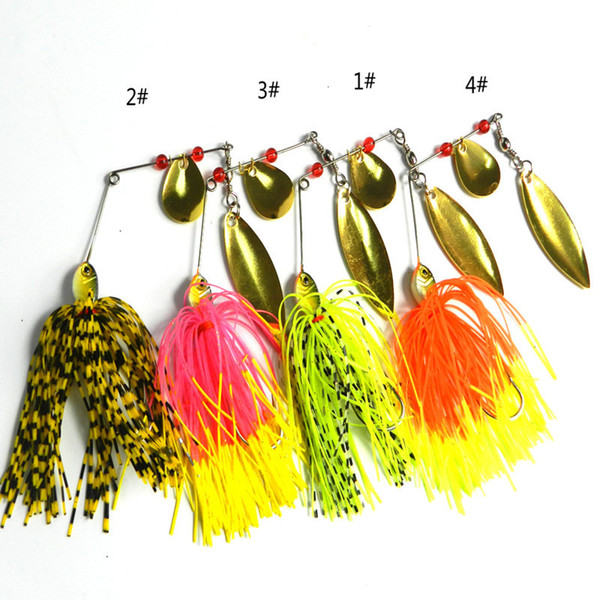 14.8g buzzbait fishing skirts lures terminator super stainless spinnerbait 4colors spinner bait 20pc thumbnail