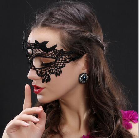 Masquerade mask/ sexy dinner mask/ Black Cat eye shape lace veil/ half face mask/ COSPLAY Party Mask