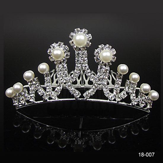 18007-Дешевые Коронки Популярные красивые кристаллы Аксессуары для волос Гребень Rhinestone Люкс Свадьба Тиара 4,53 дюйма * 1,97 дюймов Бесплатная доставка