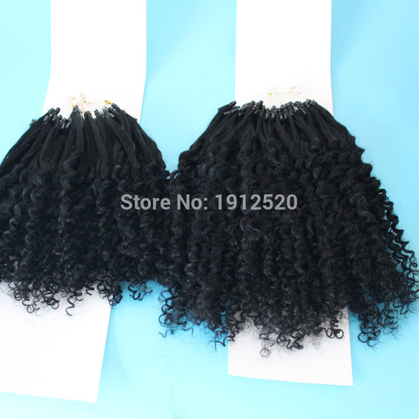 2018 6a Unprocessed Virgin Brazilian Kinky Curly Hair Micro Loop