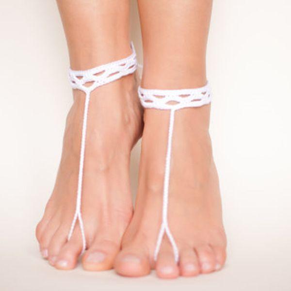 1 Pair OR 2 PCS Crochet sandals/Beach party sandals/Wedding accessories/Wedding barefoot sandals/Beach shoes/Crochet foot thong