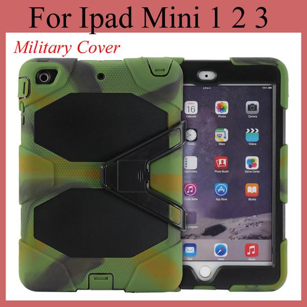 Tablet PC Hybrid Hard Cover para iPad Mini / mini 2 con soporte a prueba de polvo prueba militar caso de estilo colorida tableta cubierta PCC003