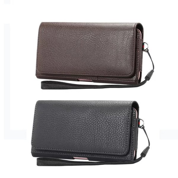Роскошные универсальный кобура зажим для ремня талии человек флип Pu кожаный чехол сумка телефон чехол для Iphone 6 6 S 7 плюс Samsung Galaxy S7