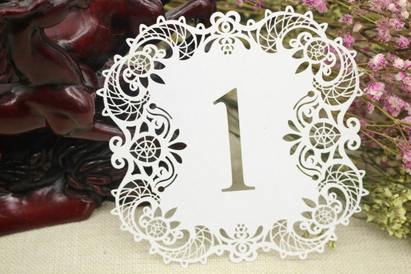 Hollow Out Elegant Table Number Place Card Seat Paper Tag Holder for Party Table Decoration Wedding Ornament ZA5529