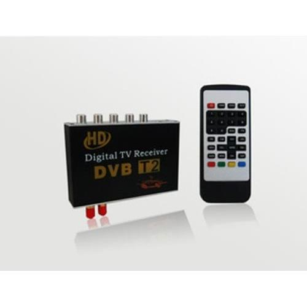 Sintonizzatore TV digitale HD per auto Ricevitore DVB-T2 MPEG-2MPEG-4 Doppia antenna