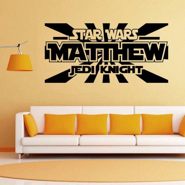Star Wars Matthew Jedi Knight Wall Sticker Art Home Decor Dining ...