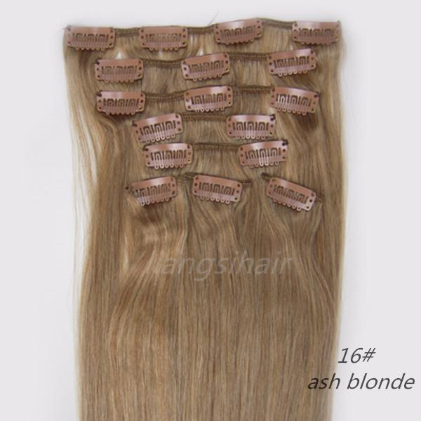 Clip in Haar-Produkte brasilianischen indischen peruanischen malaysischen Großhandelspreise Jungfrau Remy Menschenhaarverlängerungen 18