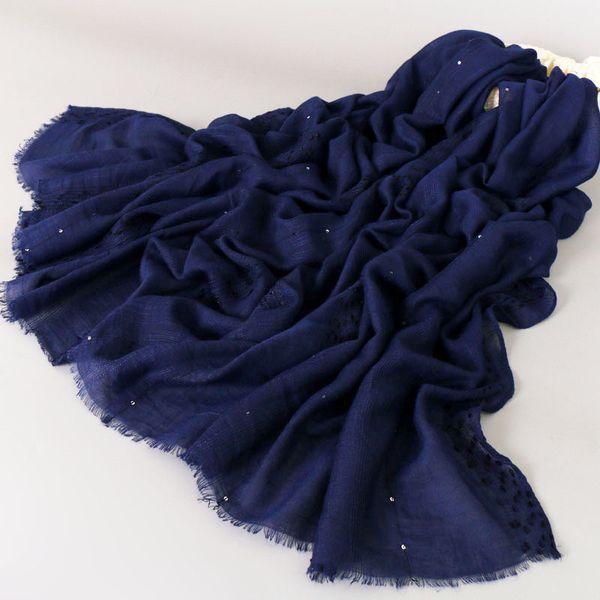 Popular design paillette plain viscose cotton glitter shawls hijab winter fashion shimmer muslim scarves/scarf 180*90cm 12 color