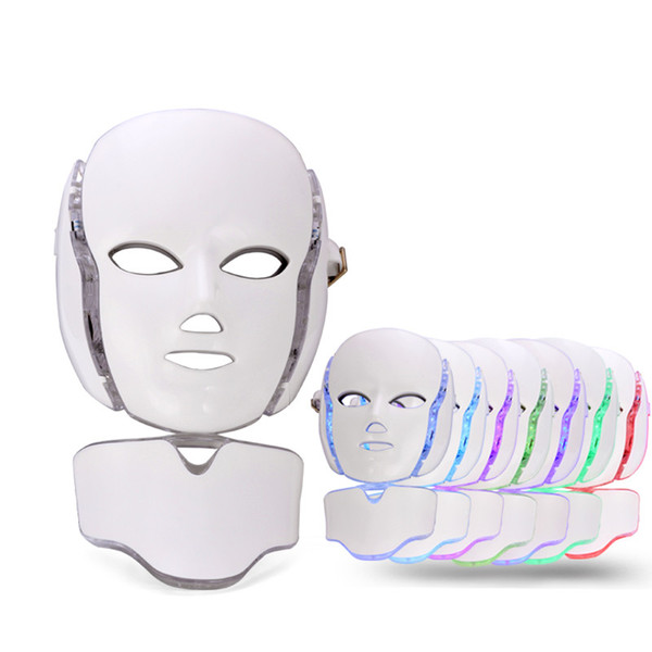 7 Color Professional Photon LED Facial Mask Skin Rejuvenation Anti-Aging Beauty Therapy Light for Home Use Beauty Instrument