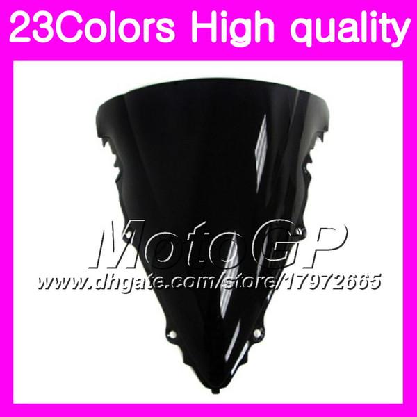 23Colors Windscreen For YAMAHA R6 YZFR6 03 04 05 YZF-R6 YZF600 YZF 600 YZF R6 2003 2004 2005 Chrome Black GPear Smoke Windshield