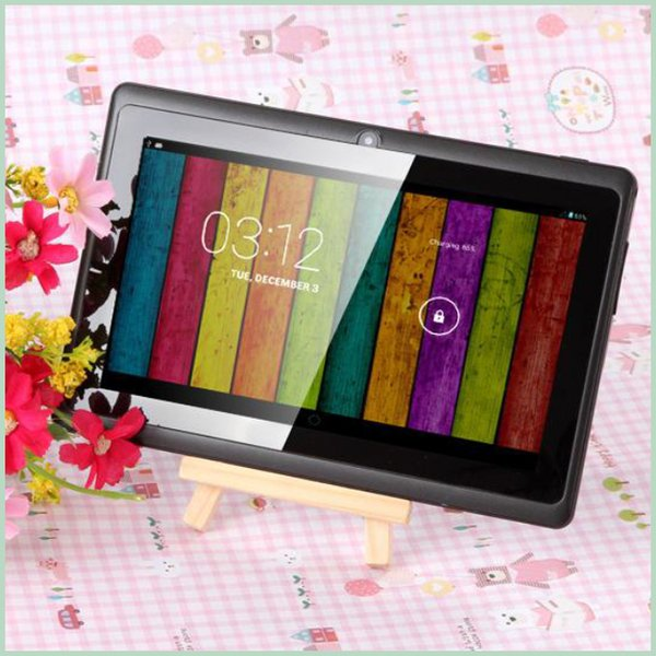 best selling Q8 7 inch tablet PC A33 Quad Core Allwinner Android 4.4 KitKat Capacitive 1.5GHz 512MB RAM 4GB ROM WIFI Dual Camera Flashlight Q88 MQ50