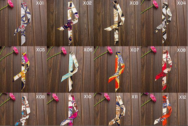Al por mayor-Mujeres Damas 20pcs / lot Marca de moda Mulberry H Cinturón Bolso Bufandas de seda Barato Satén de seda por mayor Envío gratuito
