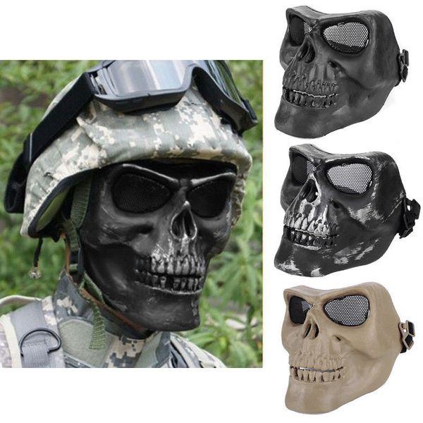 Армия открытый анфас Airsoft пейнтбол защитный скелет дизайн череп анти BB бомба Маска