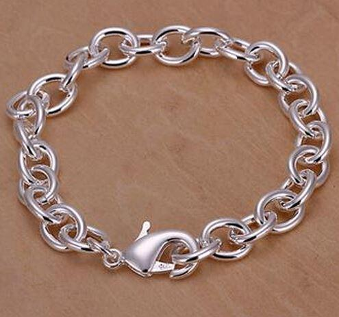 Free shipping Tradition Chain High quality Top Sale 925 Silver Noble fashion charm Bracelet Jewelry