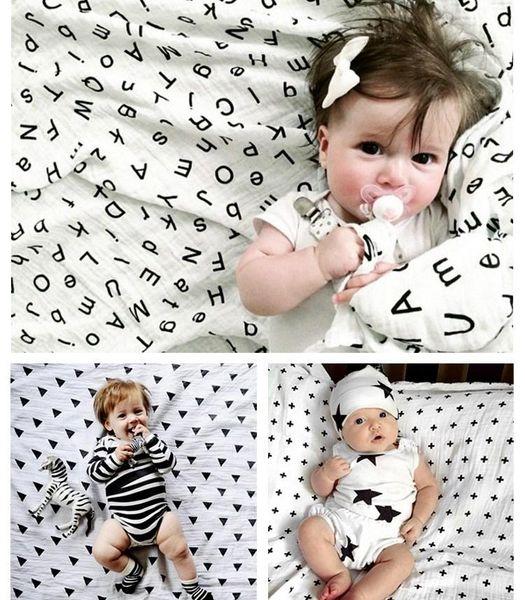 "2016 Newborn Organic Cotton Swaddle Blanket Muslin INS Multi-use blanket Infant Baby Wrap 47*47"" 120*120cm"
