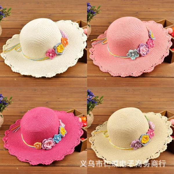 2015 New Fashion Korean Children Hats Baby Straw Hat Summer Sun Hat for boys and girls Kids jazz hats baby hat Fashion Bonnet The new large-