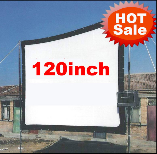 Wholesale-Cheaper 120inch 16:9 Without frame can be fold Portable canvas fabric screen for HD led LCD UC30 UC40 UC80 ATCO Projector Beamer