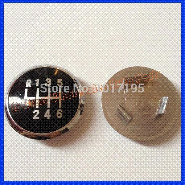 Free Shipping Auto 6 Speed Car Shift Gear Knob Emblem Black Caps For VW Passat B5 Accessories M18714