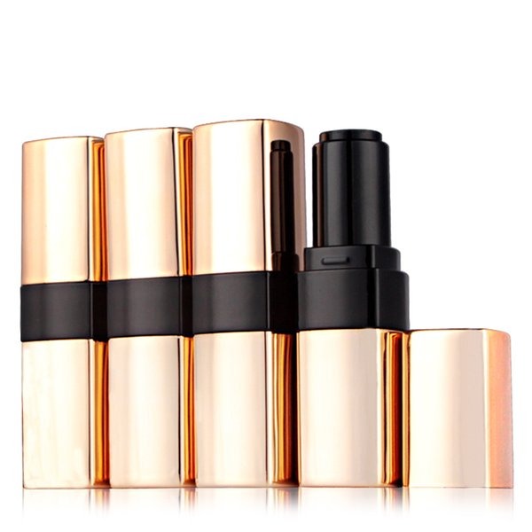 New Arrival Empty DIY Lip Balm Lipsticks Tubes Luxury Gold Makeup PP Packaging Containers for Women Travelling 20pcs