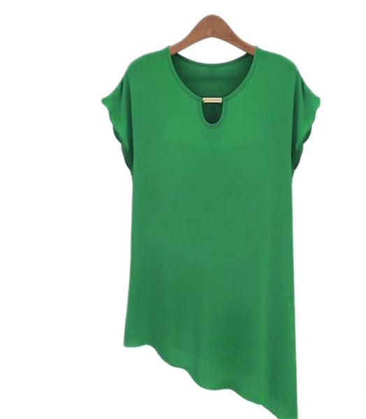 keyi011 / Novas Mulheres Chiffon Imprimir Blusa Camisa Senhora Moda Camisa de Manga Curta Lazer Camisa Chiffon Blusas Mulher