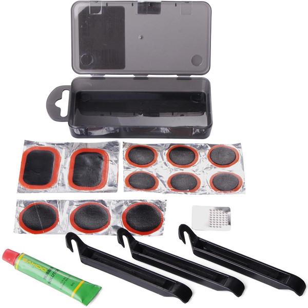 Bike Bicycle Cycling Flat Tire Repair Kit Tools Set Kit Patch Rubber Portable Fetal Sit Box Best Quality Free shipping CS067+