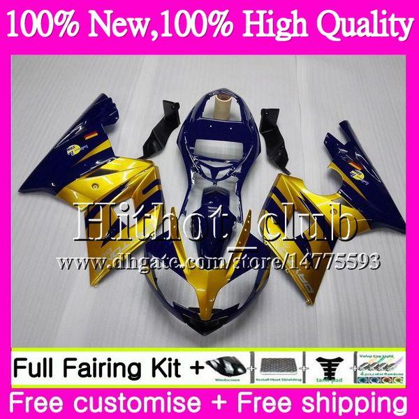 Bodys For Triumph Gold blu Daytona 600 03 05 650 03 04 05 Daytona600 6HT17 Daytona650 05 Daytona 650 600 2003 2004 2005 Motociclo