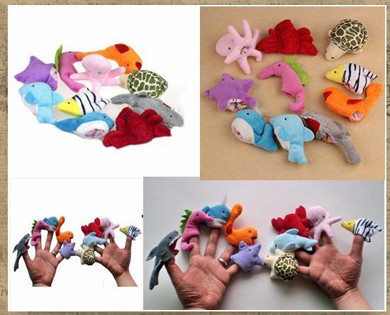 top popular FEDEX Ocean Finger Puppets Set Baby Finger puppet Plush Toys Octopus Dolpin Shark Various Animal Finger Puppet Baby Educational Toys 2021
